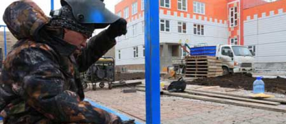 В Канске полным ходом идет строительство нового детского сада